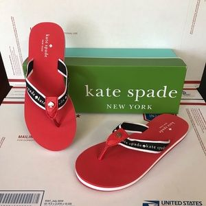 NWB Kate Spade Fable Womens Red Sandals